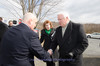 Larry Wiersch, Cetronia Ambulance Corps CEO, greets Governor Corbett