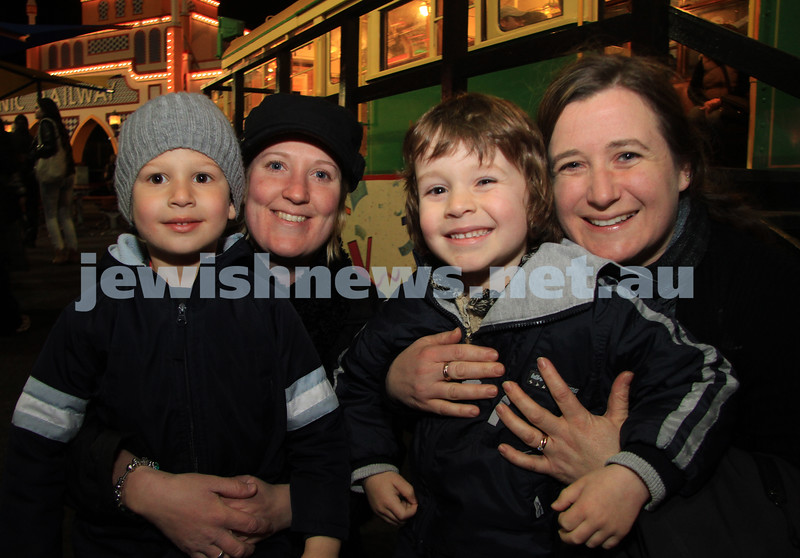 27-9-10. Chabad Youth annual Succot at Luna Park. From left: Eli and Judy Lasnitzki, Boaz and Linda Gore. Photo: Peter Haskin