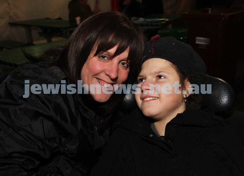 27-9-10. Chabad Youth annual Succot at Luna Park. Ricki (left) and Penina Weiszberger. Photo: Peter Haskin