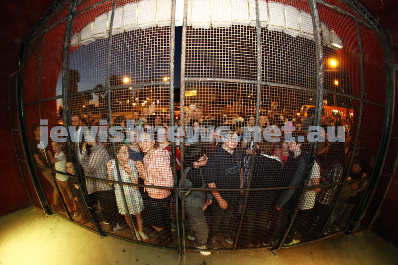 3-10-12. Chabad Youth. Succot at Luna Park, Melbourne. Photo: Peter Haskin