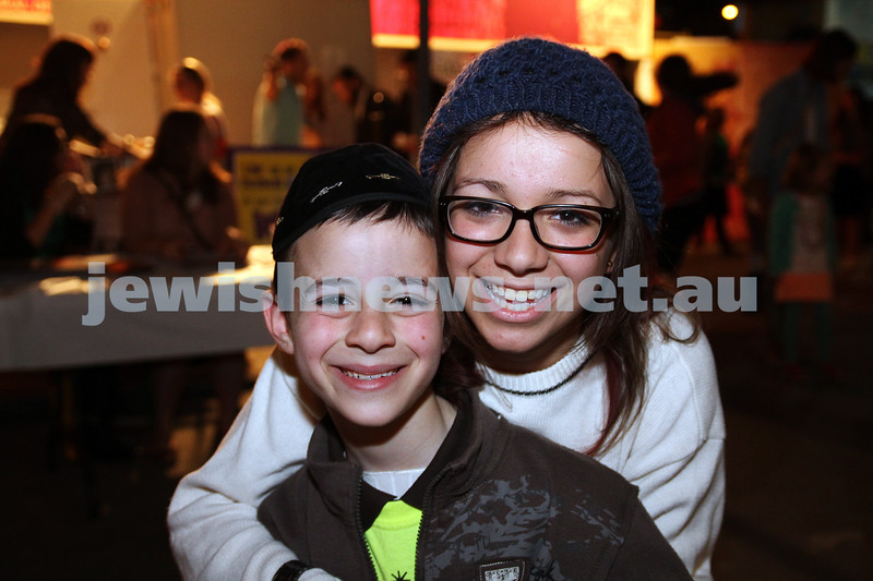 3-10-12. Chabad Youth. Succot at Luna Park, Melbourne. Shua and Malki Meyer. Photo: Peter Haskin