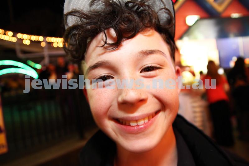 3-10-12. Chabad Youth. Succot at Luna Park, Melbourne. Sassone Brott. Photo: Peter Haskin
