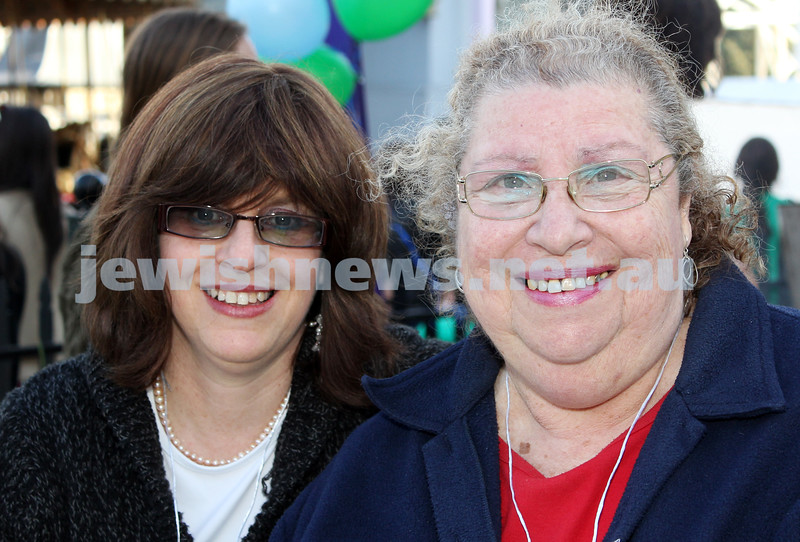 17-10-11. Sukkot at Luna Park. Yael Watts, Marcia Meyer. Photo: Lochlan Tangas