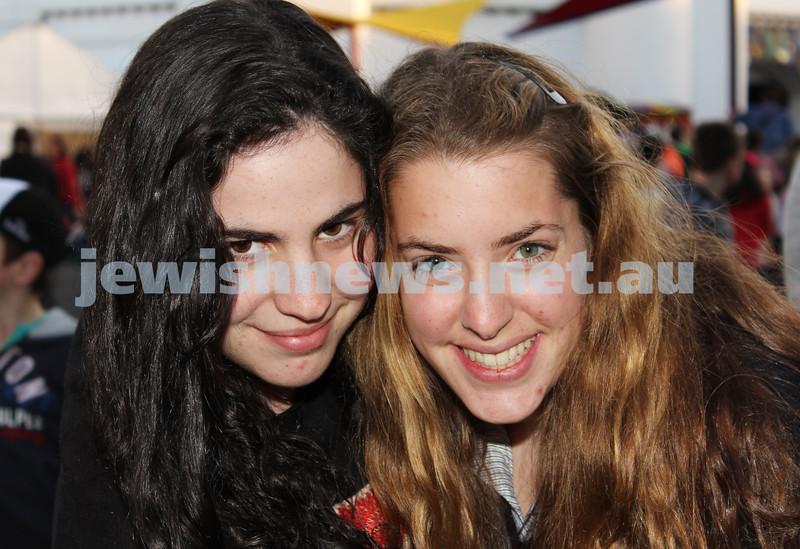 17-10-11. Sukkot at Luna Park. Natalie Gilbert, Gabby Recht. Photo: Lochlan Tangas