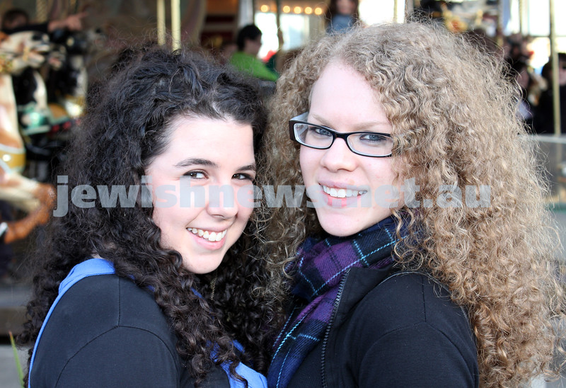 17-10-11. Sukkot at Luna Park. Nechama Engel, Tova Watts. Photo: Lochlan Tangas