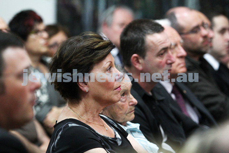 25-1-12. International Day of Commemoration in memory of the Victims of the Holocaust. Jewish Holocaust Centre, Elsternwick. Helen Shardey. Photo: Peter Haskin