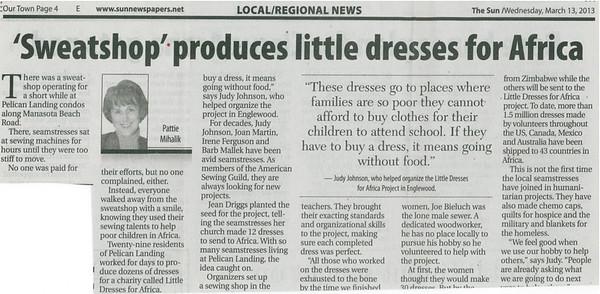 Little Dresses for Africa scanned - courtesy of Paulette B.