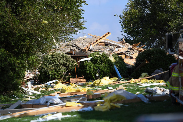 Debris is seen in the yard at 6223 E. Private Road 765 N. in Twelve Mile on Friday, Oct. 8, 2021.
