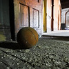 A basketball sits in a room near the main portion of the third floor at 530 E. Broadway in Logansport on Tuesday, Sept. 21, 2021. The main part of the floor had a basketball hoop installed.