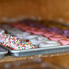 Doughnuts sit on a tray at Bolin's Donuts in Logansport on Friday, Oct. 8, 2021.