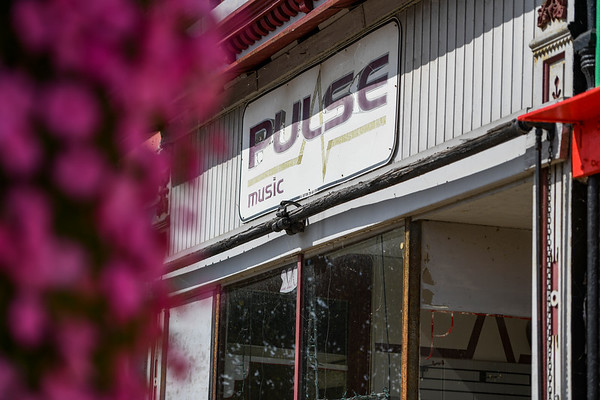 The Pulse Music storefront is shown in Logansport on Thursday, Sept. 30, 2021.