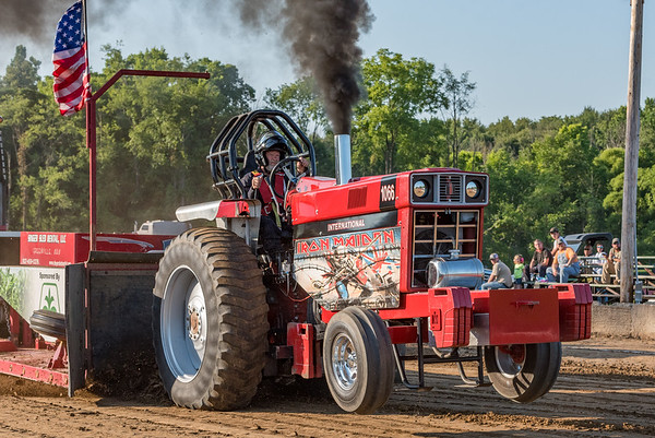 The Iron Maiden from Winamac competes in the Tractor and Truck Pull held at the Cass County Fair on Friday night. Fran Ruchalski | Pharos-Tribune