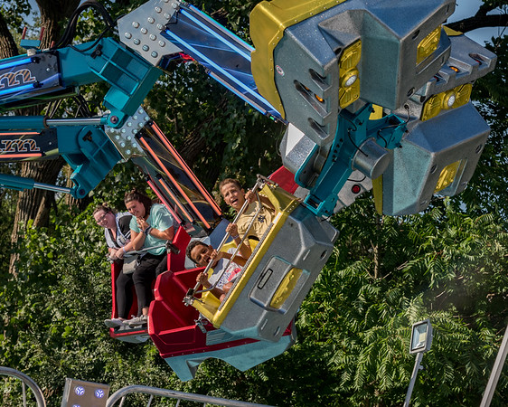 After the heat of Tuesday afternoon, there were lots of adventurous riders who were interested in trying some of the crazier amusement rides at the Cass County Fair like this one called Delirium. Fran Ruchalski | Pharos-Tribune