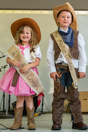 In a very tough competition loaded with cuteness among 17 contestants, the new Little Miss Cowgirl Tessa Criswell, 5, and Little Mister Cowboy Chase Farrer, 6, were chosen at the 2018 Cass County Fair on Wednesday night. Fran Ruchalski | Pharos-Tribune
