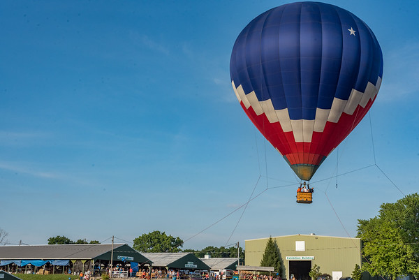 For the first time, Cass County Fairgoers were able to climb into a hot air balloon and see the area from about sixty feet in the air. The balloon was brought in by Midwest Balloon Rides out of Indianapolis. Fran Ruchalski | Pharos-Tribune