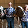 "Conner Walker and his sister, Mackenzie ""Jo"" Walker pose with their dairy steers in the exhibition building after competing in the dairy steer show at the Cass County Fair on Wednesday morning. Fran Ruchalski 
