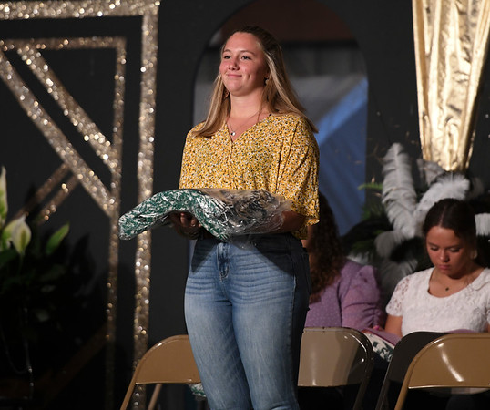Laura Hughes during the opening day of the Cass County Fair in Logansport on Sunday, July 11, 2021.