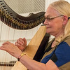 Julie Jones plays several selections on her harp at the Baptist Temple on Sunday, September 9, 2018. The songs ranged from Stairway To Heaven to Amazing Grace. Her performance was the first of four musical performances in the series at the Baptist Temple on Sunday afternoons at 3 p.m.