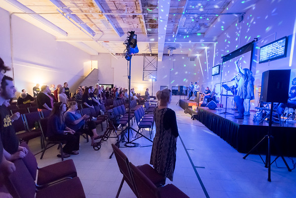 The main sanctuary of the Church of the Heartland during their inaugural service in their new facility on Cincott Street in Logansport on Sunday, Oct. 8, 2017. Fran Ruchalski | Pharos-Tribune