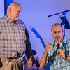 Pastor Herb Hiatt and his son, Pastor Heath Hiatt working together during the inaugural service in the new home of The Church of The Heartland on Cincott Street in Logansport on Sunday, Oct. 8, 2017. Fran Ruchalski | Pharos-Tribune