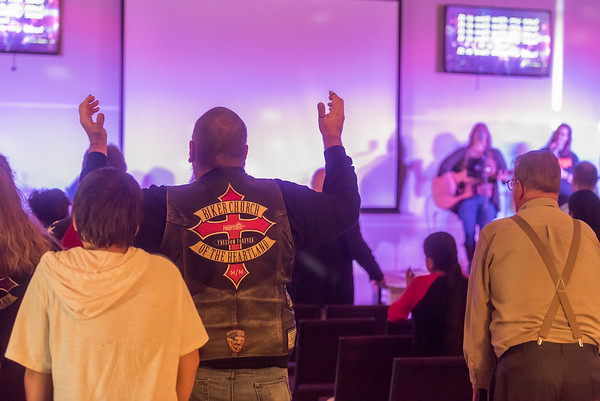 Worshippers at the first service in the new home of The Church of The Heartland on Cincott Street in Logansport on Sunday, Oct. 8, 2017. Fran Ruchalski | Pharos-Tribune