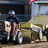Nick Sullivan competes in the garden tractor pull during Pioneer Days festivities at Rea Park on Friday, June 18, 2021 in Royal Center.