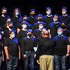 Members of the Logansport High School swing choir perform during a candlelight vigil for Marine Cpl. Humberto Sanchez at McHale Performing Arts Center in Logansport on Wednesday, Sept. 22, 2021.