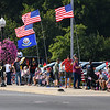 People line the streets before the homecoming procession for Marine Corps Cpl. Humberto Sanchez in Logansport on Sunday, Sept. 12, 2021.