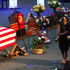 The family of Marine Cpl. Humberto Sanchez enter before the funeral service at LifeGate Church in Logansport on Tuesday, Sept. 14, 2021.