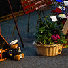Flowers and other tributes lay near the casket during the funeral service for Marine Cpl. Humberto Sanchez at LifeGate Church in Logansport on Tuesday, Sept. 14, 2021.