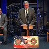Gov. Eric Holcomb speaks during the funeral service for Marine Cpl. Humberto Sanchez at LifeGate Church in Logansport on Tuesday, Sept. 14, 2021.