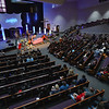 People listen as Gov. Eric Holcomb addresses attendees during the funeral service for Marine Cpl. Humberto Sanchez at LifeGate Church in Logansport on Tuesday, Sept. 14, 2021.