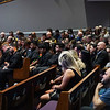 People attending the funeral service for Marine Cpl. Humberto Sanchez look toward the stage at LifeGate Church in Logansport on Tuesday, Sept. 14, 2021.