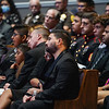 The family of Marine Cpl. Humberto Sanchez waits for the funeral service to begin at LifeGate Church in Logansport on Tuesday, Sept. 14, 2021.