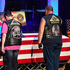 Two people walk up to pay their respects before the funeral service for Marine Cpl. Humberto Sanchez at LifeGate Church in Logansport on Tuesday, Sept. 14, 2021.