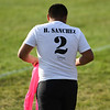 A player wear a short with Humberto Sanchez's name and number on it before a game between the Logansport Berries and Lafayette Jeff Bronchos at Logansport High School on Thursday, Sept. 2, 2021.