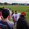 Coach Mike Turner talks to former players before a game between the Logansport Berries and Lafayette Jeff Bronchos at Logansport High School on Thursday, Sept. 2, 2021.
