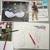 Reference photos and the mural sketch are seen at Amy Werners desk at Logansport High School on Tuesday, Aug. 31, 2021.