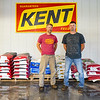 Wes Scott and his brother Duane pose inside their feed store at Oak Ridge Farms on Wednesday, June 30, 2021 in Adams Township.
