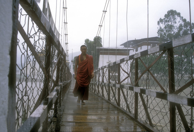 "Bridge across the Mo, which coursed full-speed not two meters below your feet. It was at its highest just now, during the monsoon. <br /> <br /> Phruba grinned. ""This river also flows to the Brahmaputra. It is our water that floods Bangladesh."""