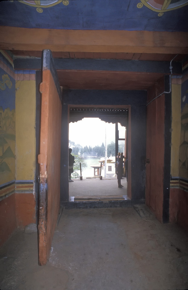 Inside the Punakha Dzong.