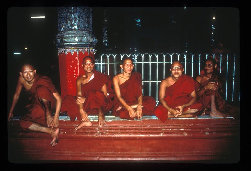 Just hanging out at the Shwedagon pagoda, Rangoon.