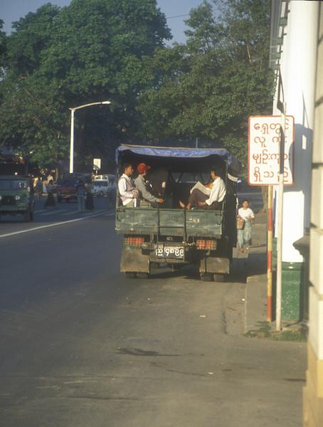 Local transport, Rangoon.