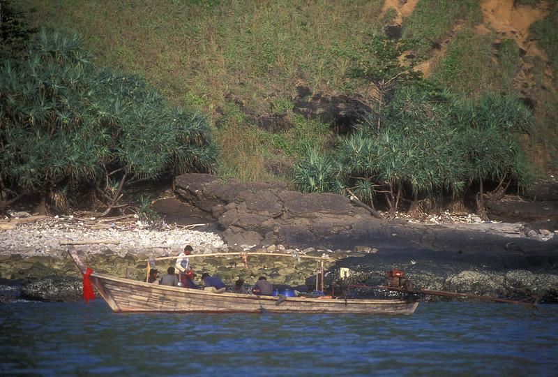 Longtail near Kyauk Tan, on the Irrawaddy Delta.