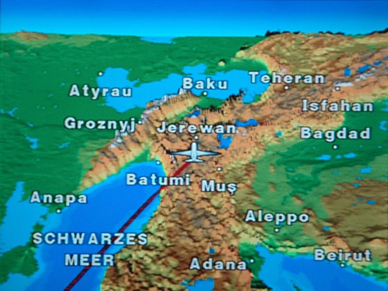 Nice, warm feeling heading straight in between Grozny and Baghdad.