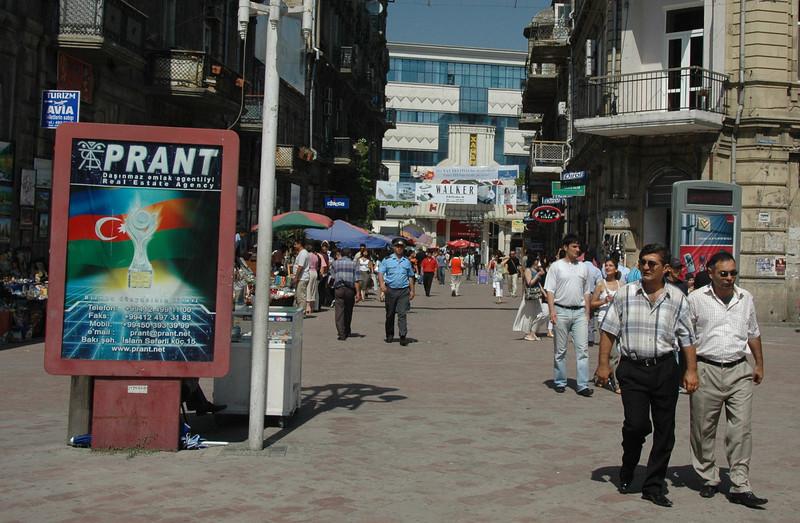 Traders Street pedestrian mall, Baku.