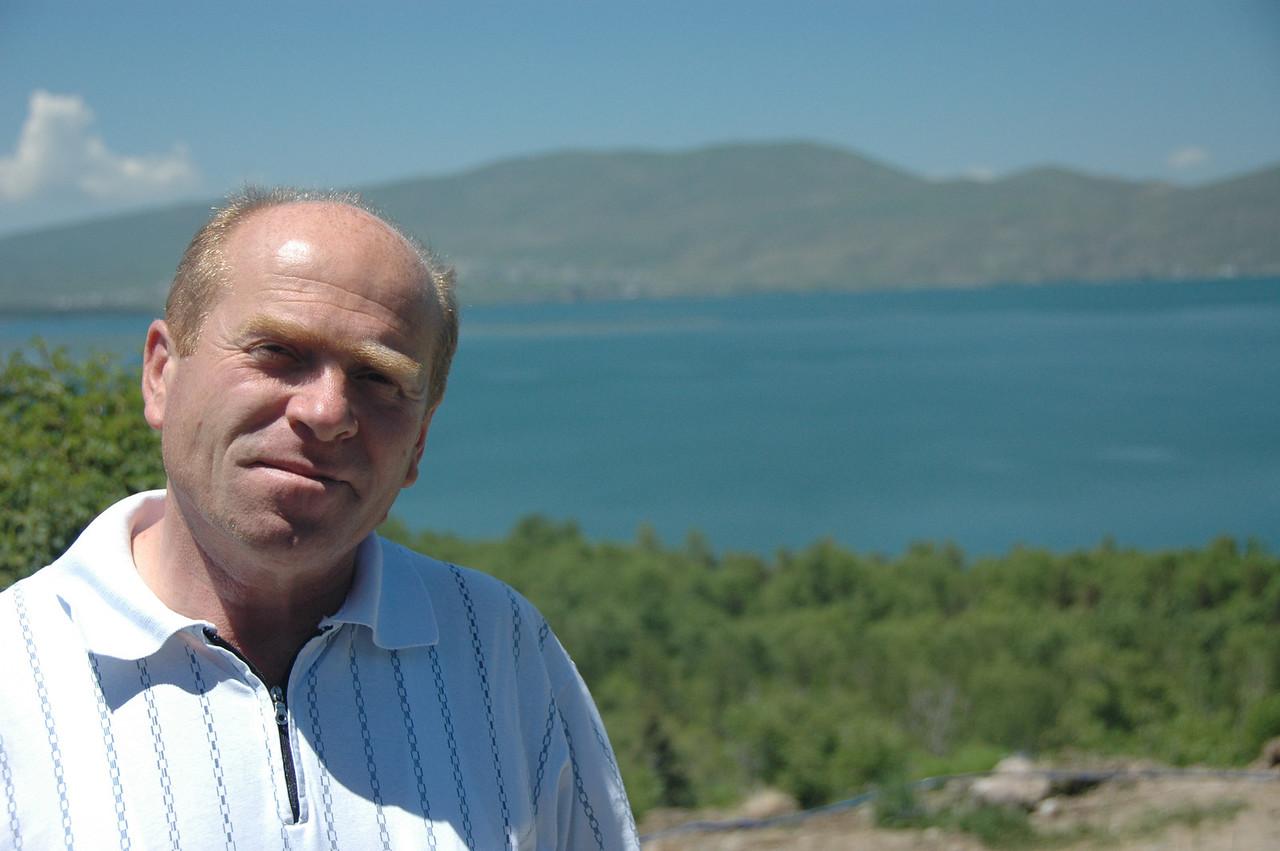 Levon and Lake Sevan, Armenia.