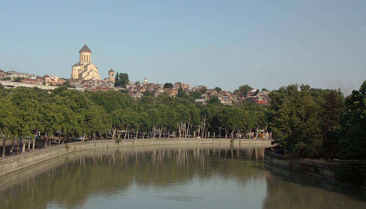 The Mtkvari River in Tbilisi.