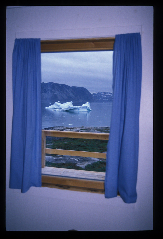 Hotel room with an iceberg view. The Arctic Hotel, Ilullisat.