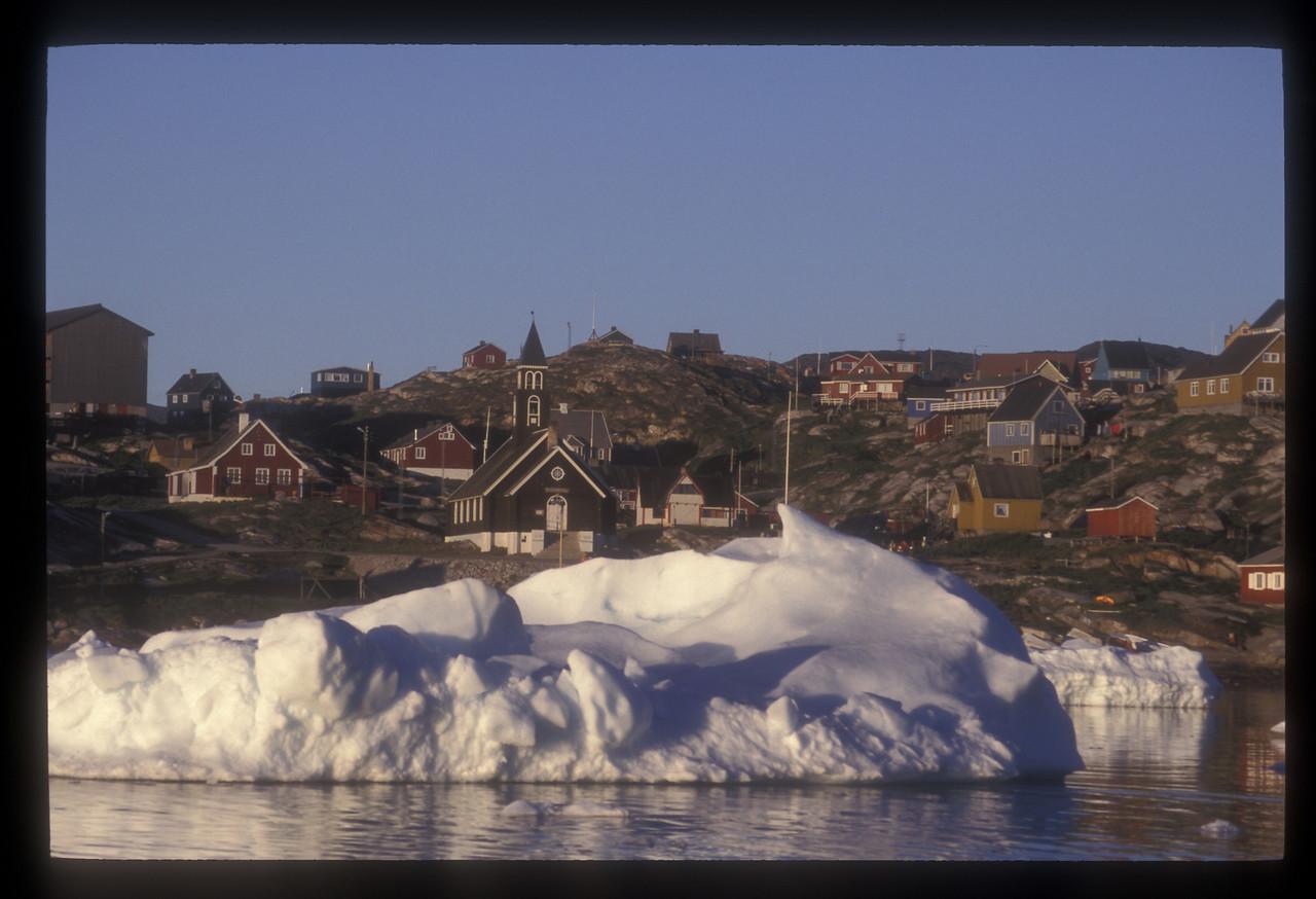 Ilullisat and iceberg, Disko Bay, Greenland.